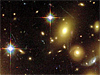 Deep space image showing stars and distant galaxies