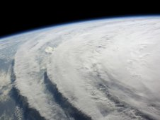 Hurricane Ike on September 10, 2008, seen from the International Space Station