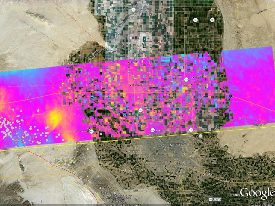 UAVSAR interferogram of Southern California