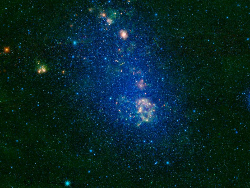 WISE's view of NGC 292, the Small Magellanic Cloud