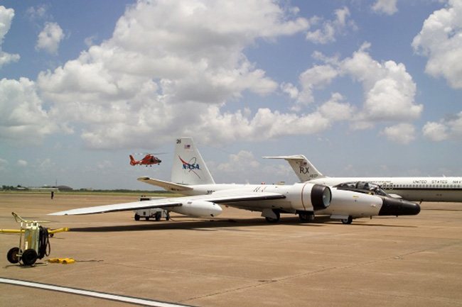 WB-57 aircraft at Hangar 990, Ellington Field