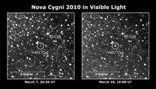before and after images showing nova