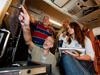 people inside a NASA DC-8 airplane