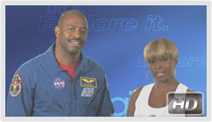 Mary J. Blige and Leland Melvin Public Service Announcement