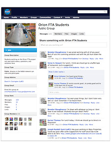 Orion FTA students Yammer site