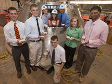 Orion Flight Test Article students, group shot