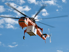 Integrated lidar sensor suite was carried in a protective shell by a leased firefighting helicopter to the observation area