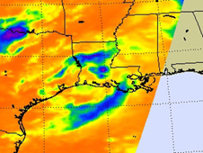 AIRS infrared image of tropical depression 5