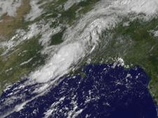 GOES 13 image of tropical depression 5