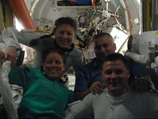 ISS024-E-011513 -- Expedition 24 crew members