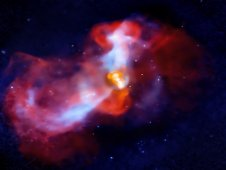 A galactic super volcano in the massive galaxy M87