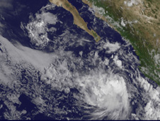 GOES image of Tropical Depression 8