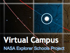 The words Virtual Campus appear over the words NASA Explorer Schools Project