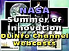 A collage of space images with the words NASA Summer of Innovation DLiNfo Channel Webcasts