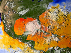 satellite image of Katrina