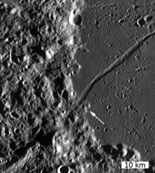 LRO image from August 10, 2010