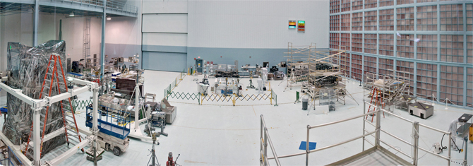 View of Goddard clean room