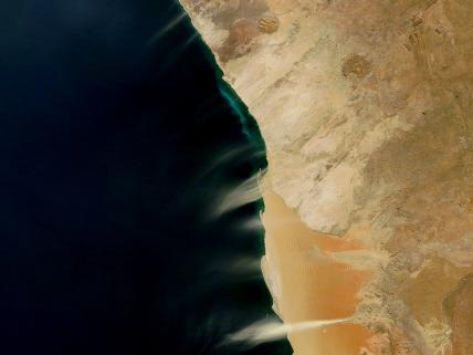 Hydrogen Sulfide and Dust Plumes on Namibia