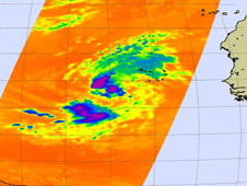 This image of TD7 shows some strong convection in the northwestern and southwestern quadrants of the storm.