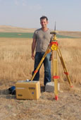 NASA Earth scientist Joe Nigro sets up his equipment to survey the fields of Turkey.