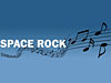 Musical notes and the words SPACE ROCK