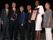 JSC2010-E-120283  -- NASA Receives Spirit of Houston Award