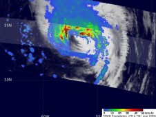 TRMM captured this image of Danielle as it was beginning to move away from Bermuda.