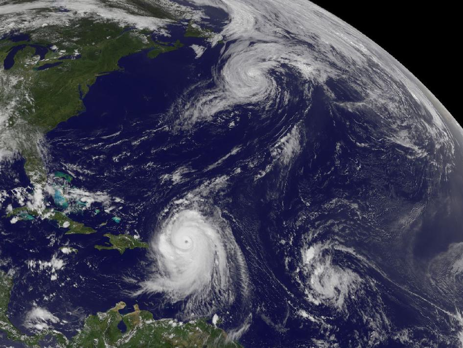 Hurricane Danielle, Hurricane Earl and a developing tropical depression