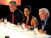 Anthony Bourdain, Padma Lakshmi and Buzz Aldrin