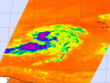 Tropical Depression 9 in infrared