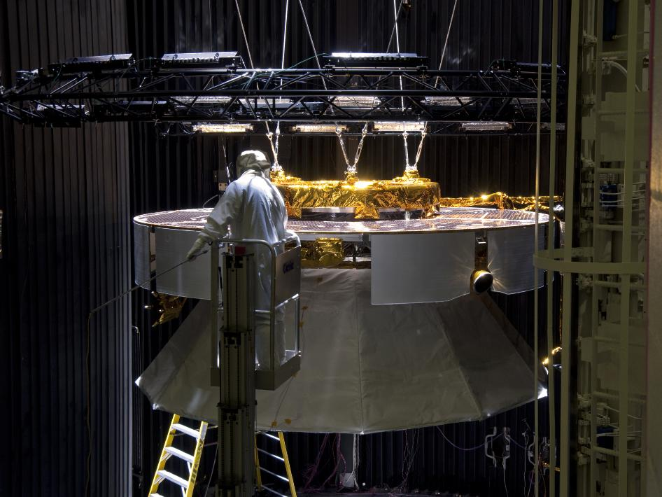 Mars Science Laboratory's Cruise Stage in Test Chamber