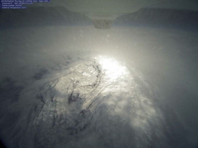 This photo of Hurricane Earl's eye was taken from the HDVis camera during the morning of Thursday, Sept. 2.