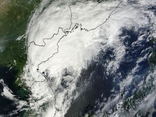 Tropical Storm Kompasu was captured by the MODIS instrument aboard NASA's Terra satellite at 02:15 UTC on Sept. 2