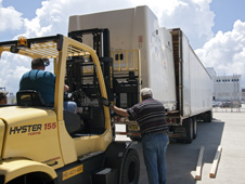 Payload loaded onto truck for Japan flight
