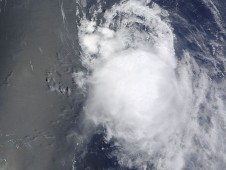 MODIS captured an image of the remnants of Tropical Storm Fiona on Friday, September 3, 2010.