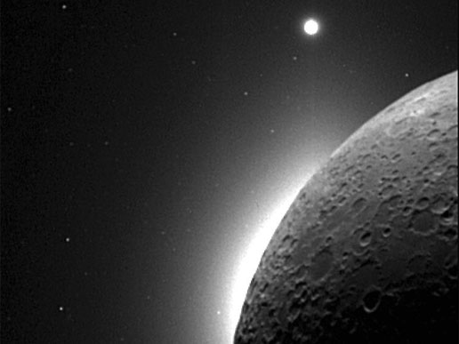 Clementine Observes the Moon, Solar Corona, and Venus