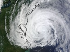 This MODIS image was captured from NASA's Terra satellite on Friday, September 3 of Hurricane Earl off the Mid-Atlantic.