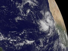 The newly formed Tropical Storm Igor just west of the African Coast (right).