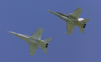 NASA's Active Aeroelastic Wing F/A-18 research jets