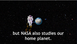 but also NASA studies our home planet?