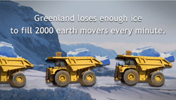 Did you know Greenland loses enough ice to fill 2000 earth movers every minute?