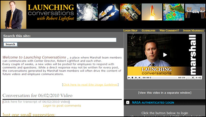 Screenshot of the Launching Conversations Website