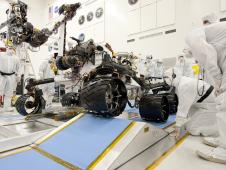 Ramp Drive Test for Curiosity Mars Rover
