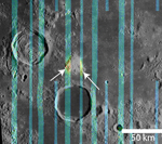 Diviner data superimposed on a Lunar Orbiter IV mosaic of Hansteen Alpha