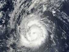 MODIS captured a visible image of Hurricane Julia before her rapid intensification.