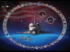 Artistic tribute to space shuttle Discovery
