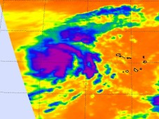Image of Tropical Storm Lisa from the AIRS instrument aboard NASA's Aqua satellite.