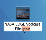NASA EDGE example vodcast file with m4v extension