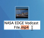 NASA EDGE example vodcast file with mp4 extension