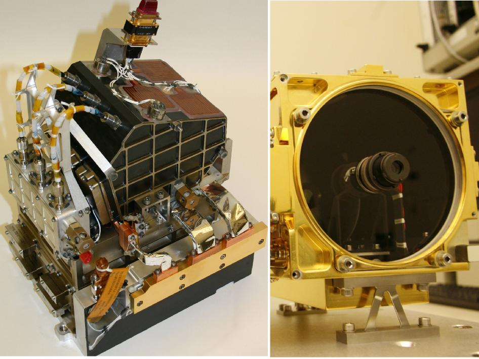 The two main parts of the ChemCam laser instrument